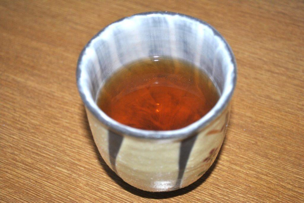 茶流痩々プーアル茶の出来上がり