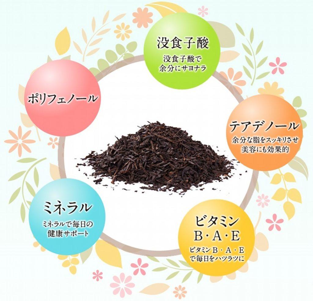 国産プーアル茶・茶流痩々の栄養素