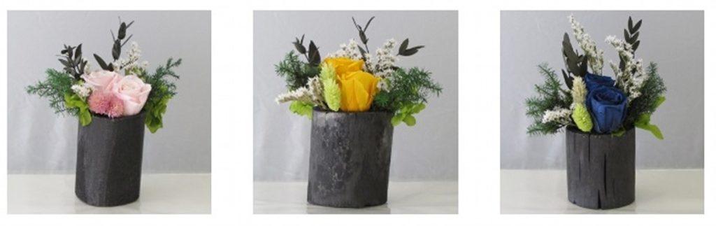 飾り竹炭の「花飾り」