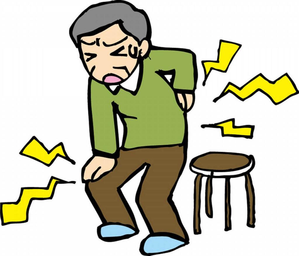 腰、膝が痛い中高年